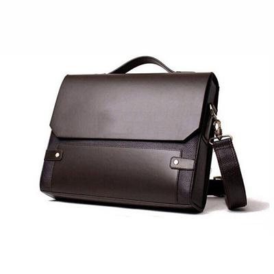 Qoo10 - Men Office Bag Faux Leather Briefcase Business Messenger ...