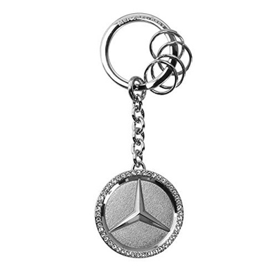 qoo10 mercedes benz star logo with swarovski crystals key chain. Cars Review. Best American Auto & Cars Review