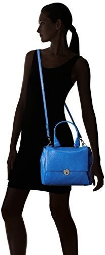 Refaxi Fashion New Mid-zip-stitched Double Shoulder Bag Travel Backpack With Adjustable Strap For Women Girls Blue