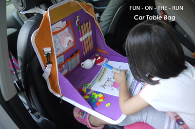 new in singapore multi purpose car activity table bag for childrenquick