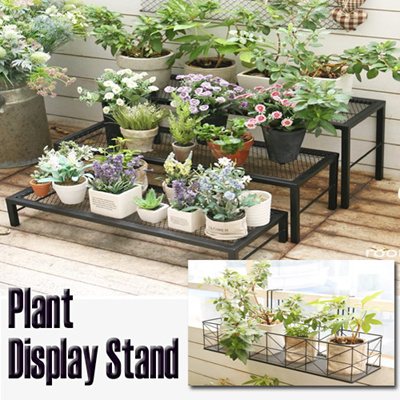 qoo10 multi layer plant display stand premium steel indoor outdoor movable f tools. Black Bedroom Furniture Sets. Home Design Ideas