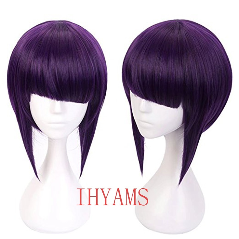469 Dangan-Ronpa Tsumiki Mikan 100cm Dark Purple Long Wavy Cosplay Wig