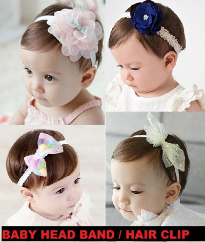 qoo10 new design added baby head band hair clip infant