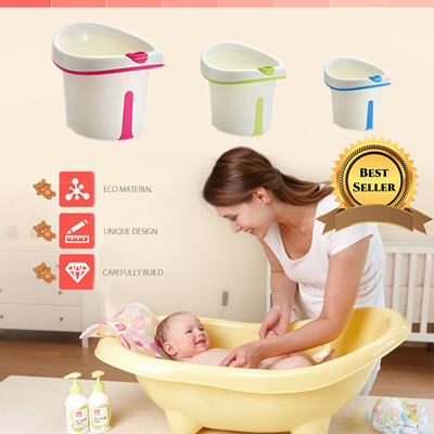 qoo10 newborn baby and child safety bath tub foldable easy to store bpa free baby maternity. Black Bedroom Furniture Sets. Home Design Ideas