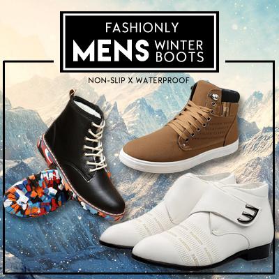 qoo10 mens winter boots waterproof non slip mens shoes