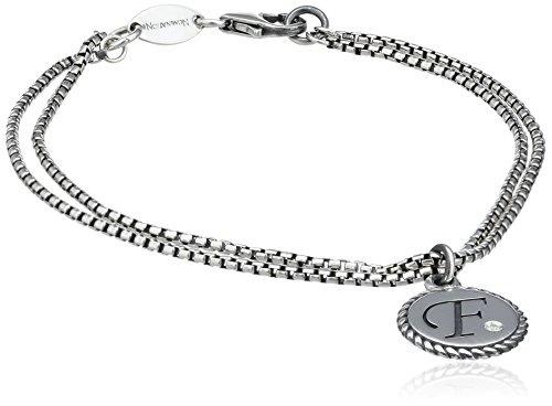 11 Grau Rauchquarz 925er Sterlingsilber Unisex Kette Armband 7,5 Zoll