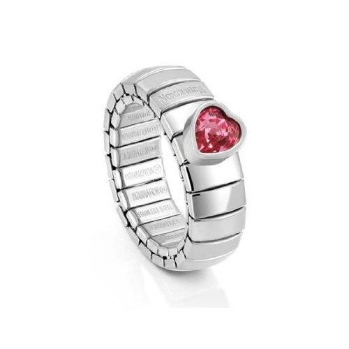 Edelstahl Ring farbig Edelstahlringe glitzer rot blau gelb rosa weiß