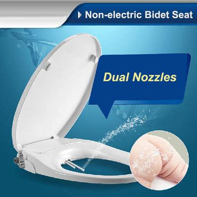 Non Electric Toilet Bidet Seat Washlet Dual Nozzles  American  Elongate Round Style European. Qoo10   Non Electric Toilet Bidet Seat Washlet Dual Nozzles