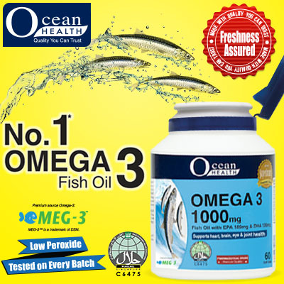 Qoo10 ocean health omega 3 fish oil 1000mg 60 for Oily fish list