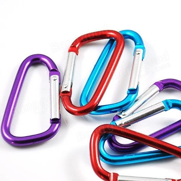 10PCS 6MM STAINLESS STEEL 316 SNAP HOOK SAFETY CLIP CARABINER CLIMBING LOCK AB