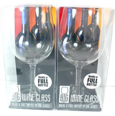 Qoo10 Pair Of Big Wine Glasses Holds A Full Bottle