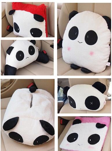Cute Car Headrest Pillow : Qoo10 - Panda lumbar pillow car by car headrest pillow lumbar cushion cute car... : Automotive ...