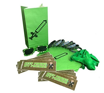 Qoo10 Party Favors for Miner Themed Birthday Party 8 Pack