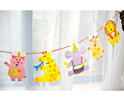 Qoo10 Party Flags Buntings Cute Birthday theme party
