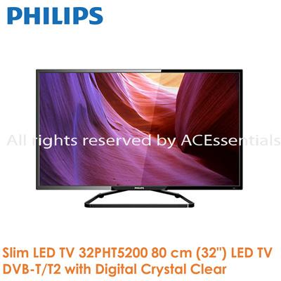 qoo10 philips 5200 series slim led tv 32pht5200 80 cm 32 led tv dvb t t2 w home electronics. Black Bedroom Furniture Sets. Home Design Ideas