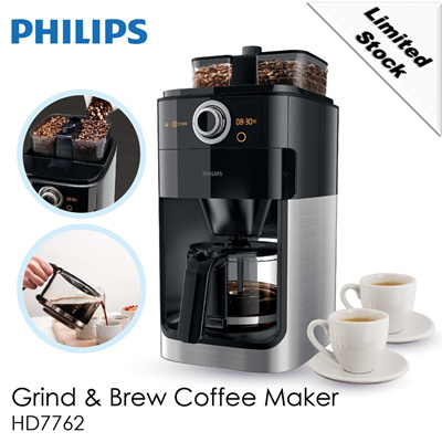 Philips Hd7762 Coffee Maker Grind Brew : Qoo10 - FREE COFFEE SET FOR Philips Grind n Brew Coffee maker HD7762/00 /With ... : Home Electronics