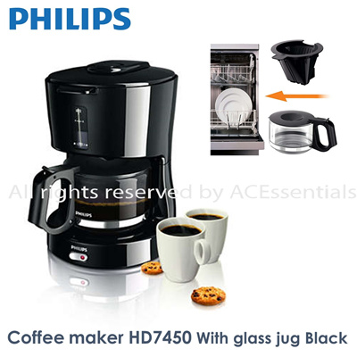 Qoo10 - Philips Daily Collection Coffee maker HD7450/20 /With glass jug /Black... : Home Electronics