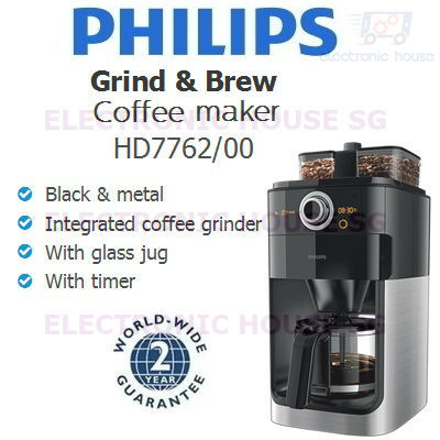 Philips Hd7762 Coffee Maker Grind Brew : Qoo10 - Philips HD7762/00 Grind and Brew Coffee Maker (2 Years World-Wide ... : Home Electronics