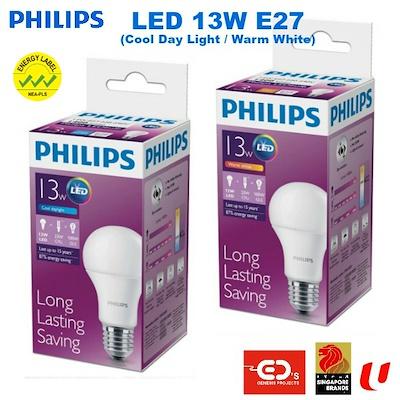 qoo10 philips led 13w e27 bulb cool day light warm white led 13w e27 furniture deco. Black Bedroom Furniture Sets. Home Design Ideas