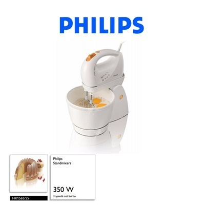 qoo10 philips stand mixers 350w hr1565 stainless. Black Bedroom Furniture Sets. Home Design Ideas