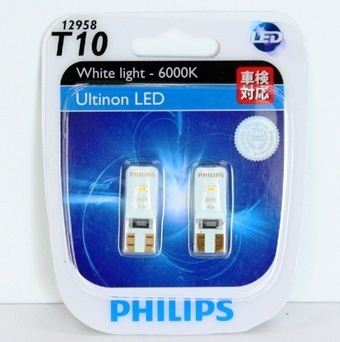 qoo10 philips ultinon led t10 car bulbs side marker. Black Bedroom Furniture Sets. Home Design Ideas