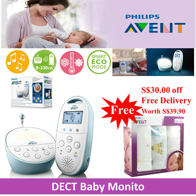 qoo10 super best buy philips avent dect baby monitor with projectors baby maternity. Black Bedroom Furniture Sets. Home Design Ideas