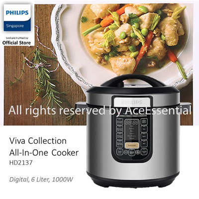 Qoo10 - Philips viva Collection Slow Cooker / All in one cooker. 1000W 1.8litr... : Home Electronics