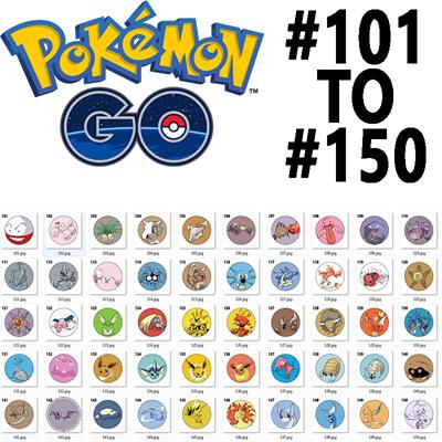 Qoo10 - POKEMON 101 TO 150 POKEDEX BADGES : Collectibles ...