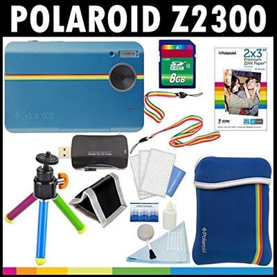 qoo10 polaroid z2300 10mp digital instant print camera blue with 8gb card tv camera. Black Bedroom Furniture Sets. Home Design Ideas