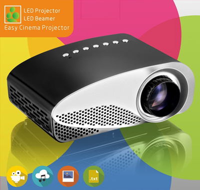 Qoo10 promotion portable small mini projector led lamp for Smallest full hd projector