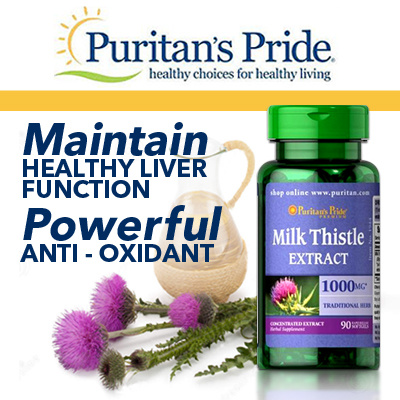 Qoo10  ★SPECIAL BUY★ Puritans Pride Milk Thistle 4:1 Extract 1000