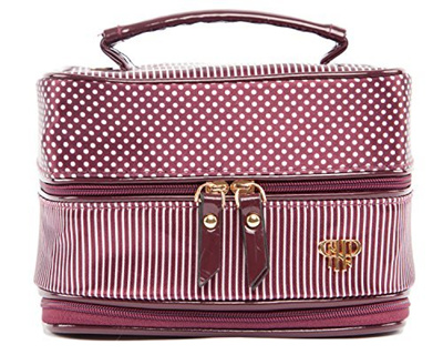 qoo10 pursen pursen tiara small weekender jewelry case