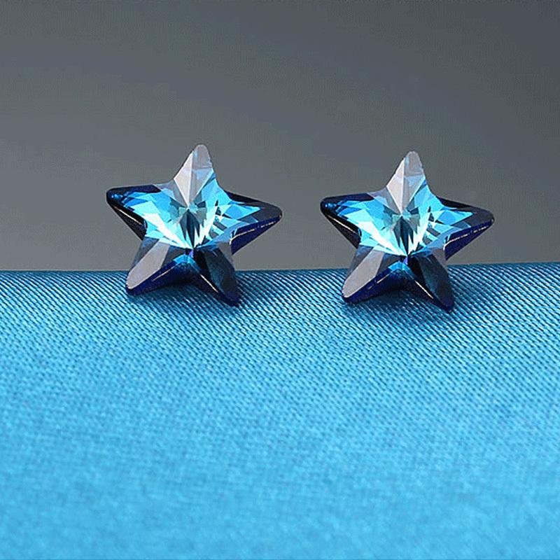 AAA quality Blue topaz /& tanzanite 925 Sterling silver rope design hoop earrings