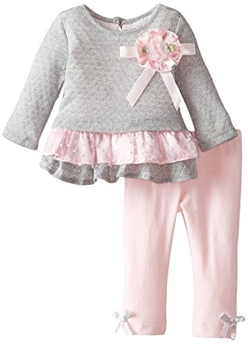 Rare Editions Baby Baby-Girls Infant Eyelash Knit Legging Set