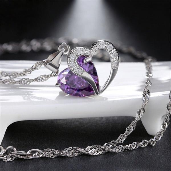 Vintage mink brown bronze pearls crystals wedding bridal silver pendant necklace