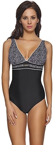 Desigual Damen Swimwear One-Piece Sandy Woman Black Badeanzug