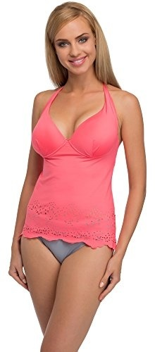 Damen Badeanzug Push Up Bikini Tankini mit Badehose Gr34 36 38 40 42 44 46 50 52