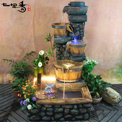Qoo10 Chinese Home Feng Shui Water Fountain Lucky Ornaments Living Room Floo Furniture Deco