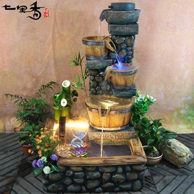 Qoo10 chinese home feng shui water fountain lucky for Chinese house feng shui