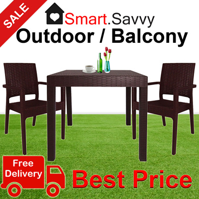 Qoo10 SALE Outdoor Dining Set Table Chairs