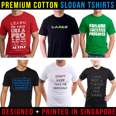 Qoo10 sale unisex graphic t shirts fast delivery for Fast delivery custom t shirts