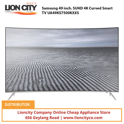 qoo10 samsung 49 inch suhd 4k curved smart tv ua49ks7500kxxs tv camera audio. Black Bedroom Furniture Sets. Home Design Ideas