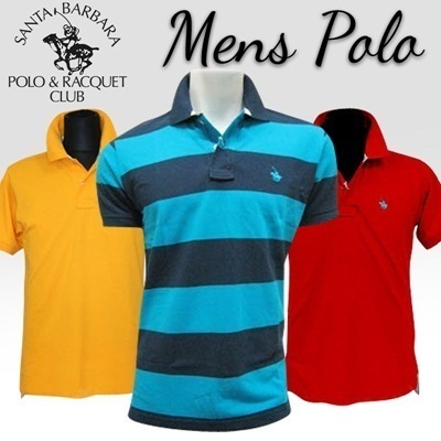 Qoo10 buy 2 free shipping branded high quality polo for Santa barbara polo shirt