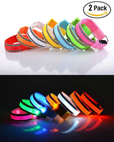qoo10 set of 2 led sports armband flashing safety light for running cycling. Black Bedroom Furniture Sets. Home Design Ideas