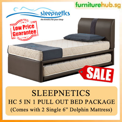 Qoo10 Sleepnetics Hc Top And Bottom 5 In 1 Pull Out Bed Package Available Furniture Deco