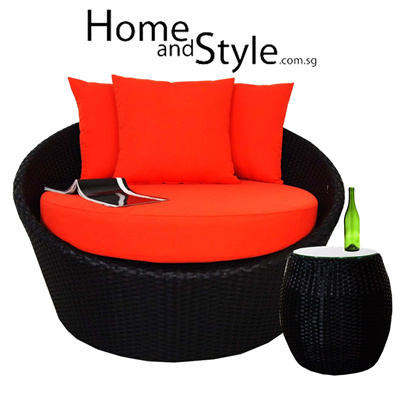 qoo10 sale designer round sofa with coffee table for