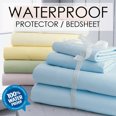 qoo10 - [cart coupon friendly] sol home ® waterproof bedsheet