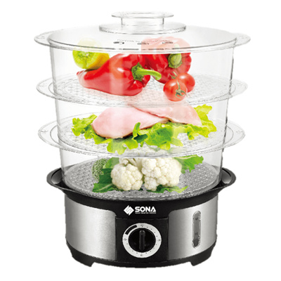 Sona 3 Tier Food Steamer Sst 3101 Healthy Cooking 12l Capacity