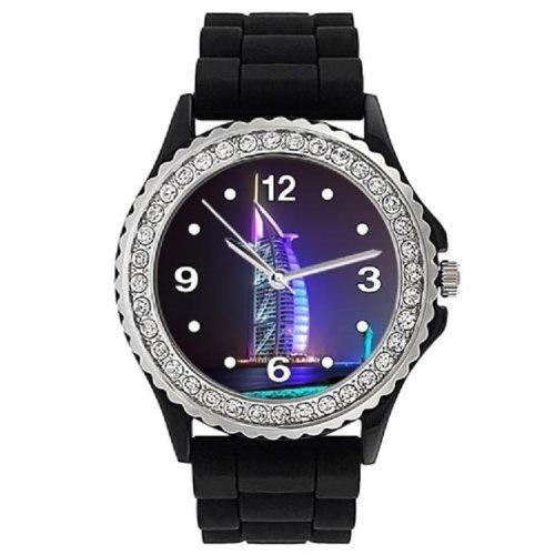 Für Suunto Vector Uhrenarmband Kautschukband Schwarz Wasserdicht mit