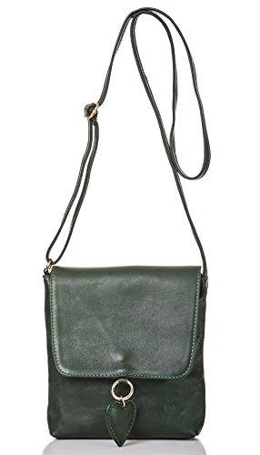 Handtasche Damen Schulter*Tasche Rucksack 2in1 schwarz cognac echt Leder ital